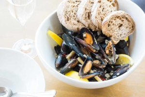 Blue mussels